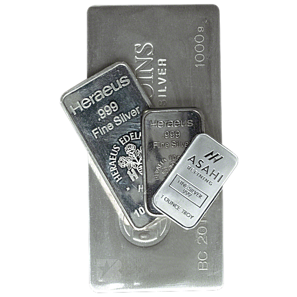 Silver Bar - Various Brands - LBMA - 1 kg