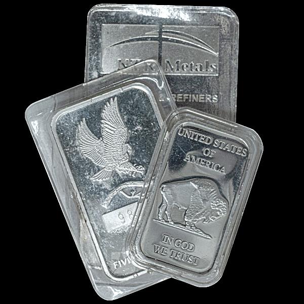 Silver Bar - Various Brands - Non LBMA - 10 oz