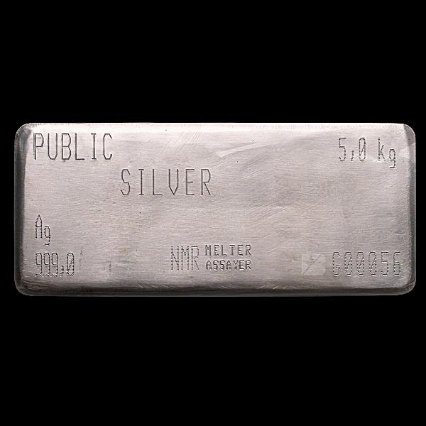 Public Silver Nadir Refinery Silver Bar - 5 kg