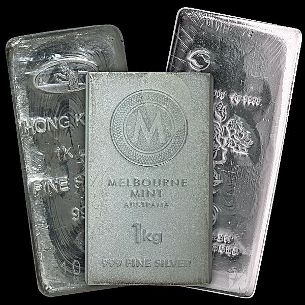 Silver Bar - Various Brands - Non LBMA - 1 kg