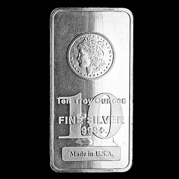 Morgan Silver Bar - Circulated in good condition - 10 oz