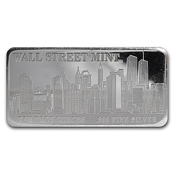 Wall Street Mint Silver Bar - 10 oz