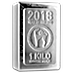 Heraeus Silver Lunar Stacker Bar 2018 - Year of the Dog - 1 kg thumbnail