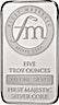First Majestic Silver Bar - 5 oz
