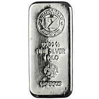 BullionStar Silver Bars with No Spread - 1 kg