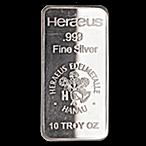 Heraeus Silver Bar - 10 oz thumbnail