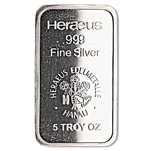 Heraeus Silver Bar - 5 oz