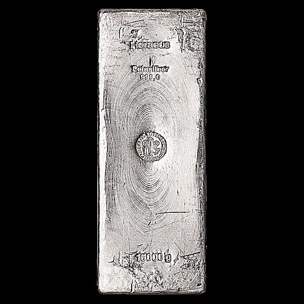 Heraeus Silver Bar - 15 kg