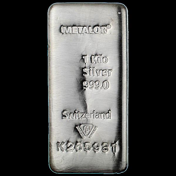 Metalor Silver Bar - 1 kg