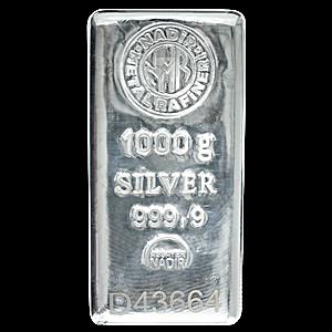 Nadir Refinery Silver Bar - 1 kg
