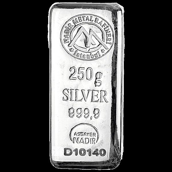 Nadir Refinery Silver Bar - 250 g