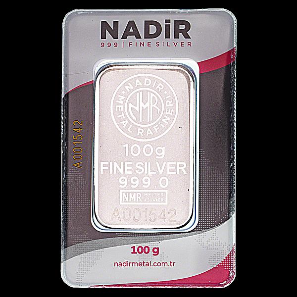 Nadir Refinery Silver Bar - 100 g