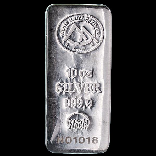 Nadir Refinery Silver Bar - 10 oz