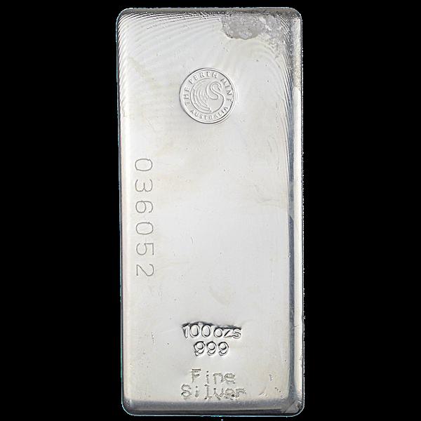 Perth Mint Silver Bar - 100 oz