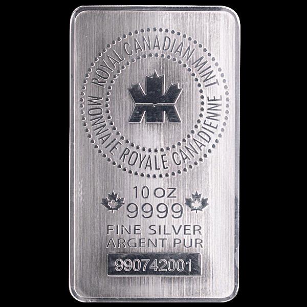 Royal Canadian Mint Silver Bar - 10 oz