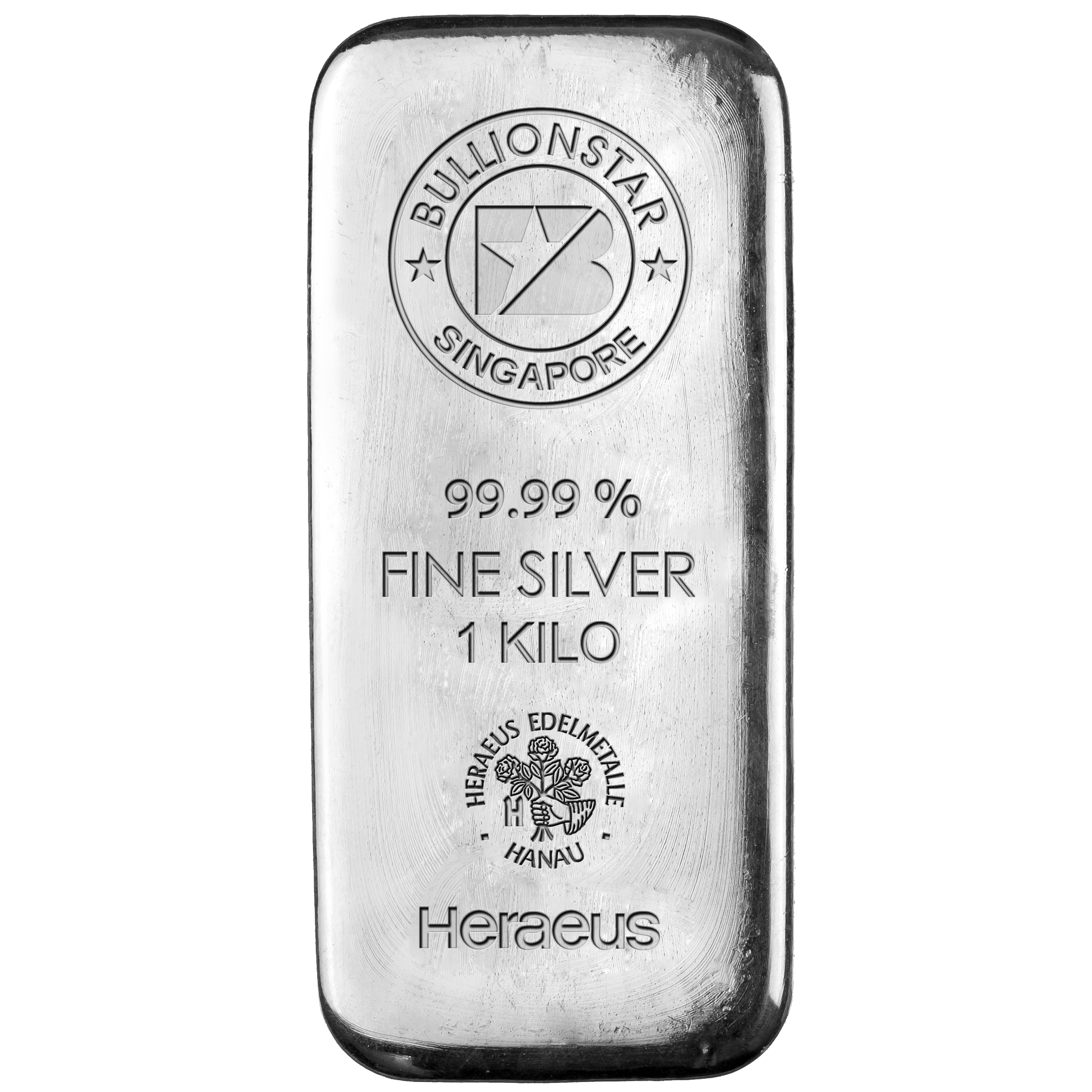 The BullionStar silver bar which can be bought and sold without any spread between the buy and sell price