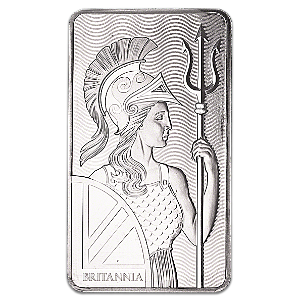 United Kingdom Silver Britannia Bar - 10 oz