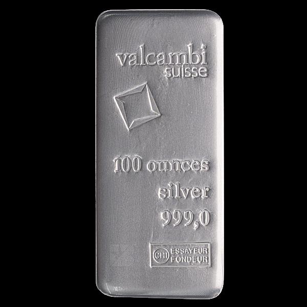 Valcambi Silver Bar - 100 oz