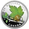 Canadian Silver $20 Venetian Glass Little Creatures: Snail 2016 - With box & COA  - 1 oz
