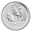 Australian Silver Lunar Series 2017 - Year of the Rooster - 1/2 oz