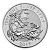 United Kingdom Silver Valiant 2019  - Circulated in Good Condition - 10 oz