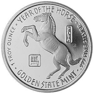 Year of the Horse Silver Rounds