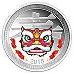 Republic of Chad Silver Happy Chinese New Year 2018 - Lion Dance - Proof - 1 oz thumbnail