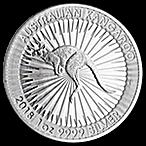 Australian Silver Kangaroo 2018 - 1 oz thumbnail