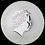 Australian Silver Lunar Series 2012 - Year of the Dragon - 10 oz thumbnail