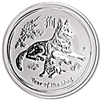 Australian Silver Lunar Series 2018 - Year of the Dog - 1 kg thumbnail