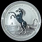 Australian Silver Stock Horse 2013 - Circulated in good condition - 1 oz thumbnail
