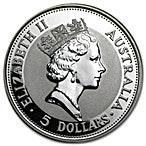 Australian Silver Kookaburra 1991 - 1 oz  thumbnail