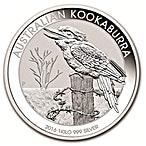 Australian Silver Kookaburra 2016 - 1 kg thumbnail
