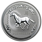 Australian Silver Lunar Series 2002 - Year of the Horse - 10 oz thumbnail