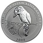 Australian Silver Kookaburra 2008 - 1 oz  thumbnail
