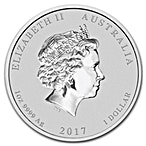 Australian Silver Lunar Series 2017 - Year of the Rooster - 1 oz thumbnail