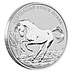 Australian Silver Stock Horse 2017 - 1 oz thumbnail