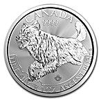 Canadian Silver Predator Series 2018 - Wolf - 1 oz thumbnail