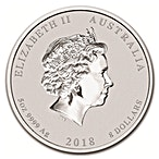 Australian Silver Lunar Series 2018 - Year of the Dog - 5 oz thumbnail