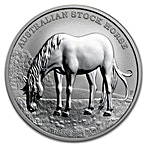 Australian Silver Stock Horse 2016 - Circulated in good condition - 1 oz thumbnail