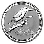 Australian Silver Kookaburra 2003 - 1 oz  thumbnail