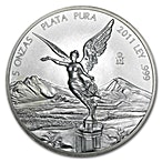 Mexican Silver Libertad 2011 - 5 oz thumbnail