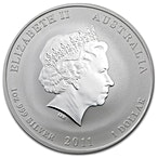 Australian Silver Lunar Series 2011 - Year of the Rabbit - Circulated in Good Condition - Gilded - 1 oz thumbnail