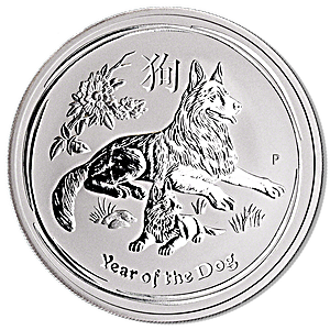 Australian Silver Lunar Series 2018 - Year of the Dog - 1 oz