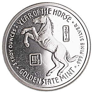 Year of the Horse Silver Round - 5 oz