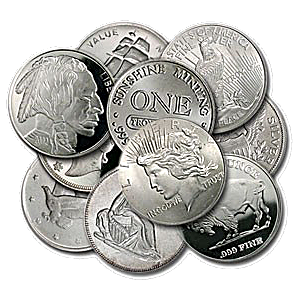 Generic Silver Rounds - Various Designs - 1/10 oz