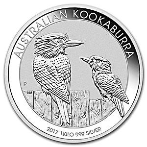 Australian Silver Kookaburra 2017 - 1 kg