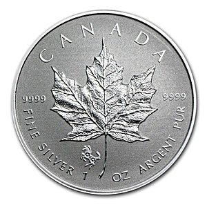 Canadian Silver Maple 2014 - Lunar Horse Privy - Reverse Proof - 1 oz