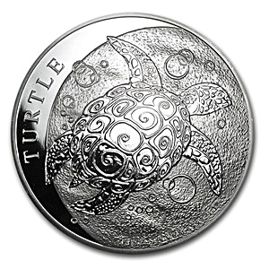 Niue Silver Turtle 2014 - Circulated in Good Condition - 5 oz