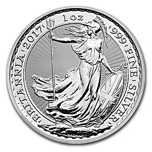 United Kingdom Silver Britannia 2017 - 1 oz